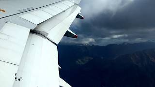 Bumpy take off Airbus 320 Queenstown airport New Zealand thumbnail