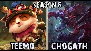 Best Teemo NA vs Chogath TOP Ranked Challenger