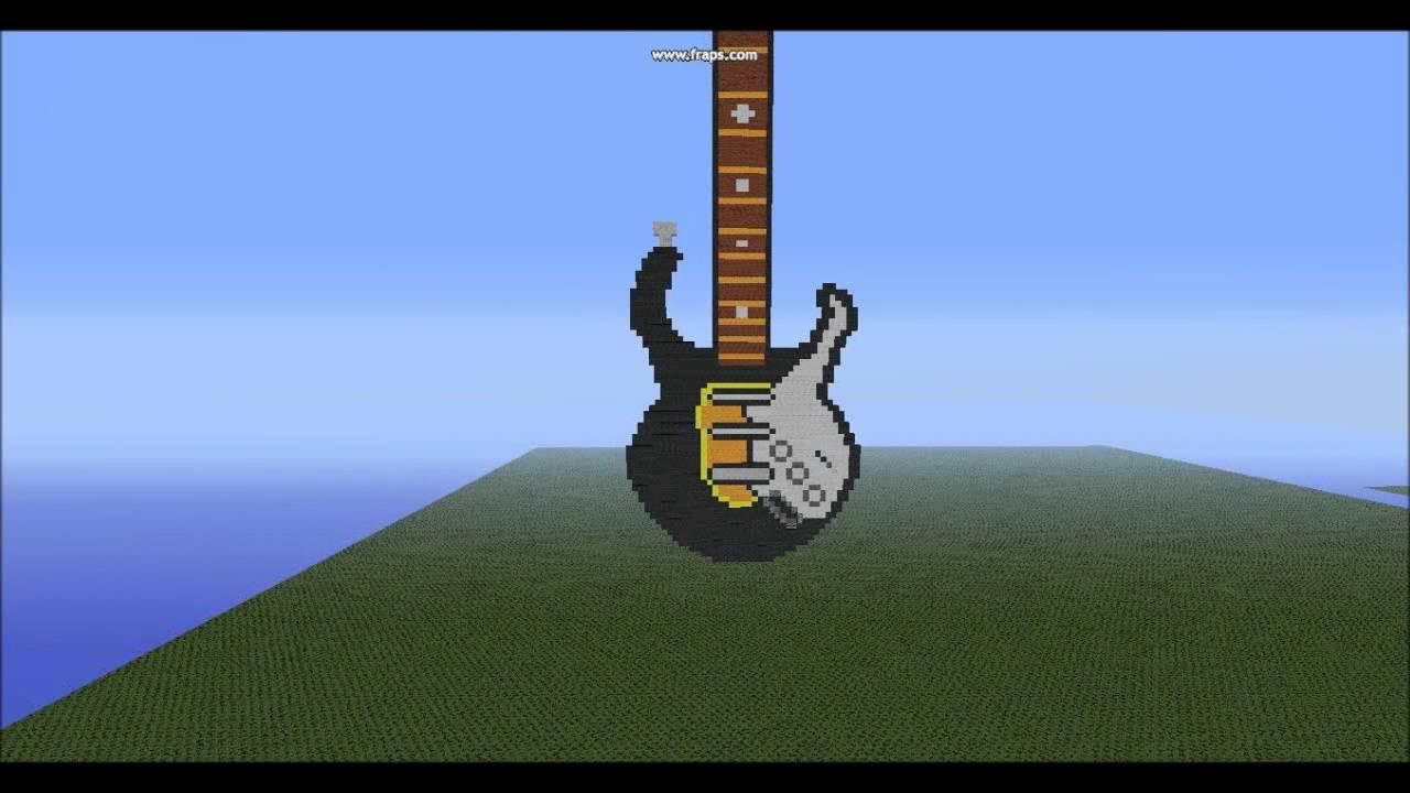 Minecraft Pixel Art Electric Guitar Youtube