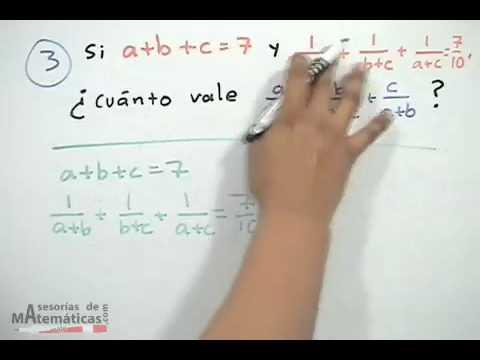 Encontrar el valor de una ecuación, dadas condiciones - HD