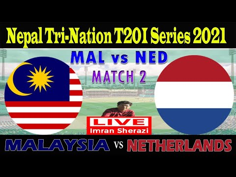 Live MAL vs NED | Malaysia vs Netherlands | Nepal T20 Tri Series Match 2 | Live Scorecard & Updates
