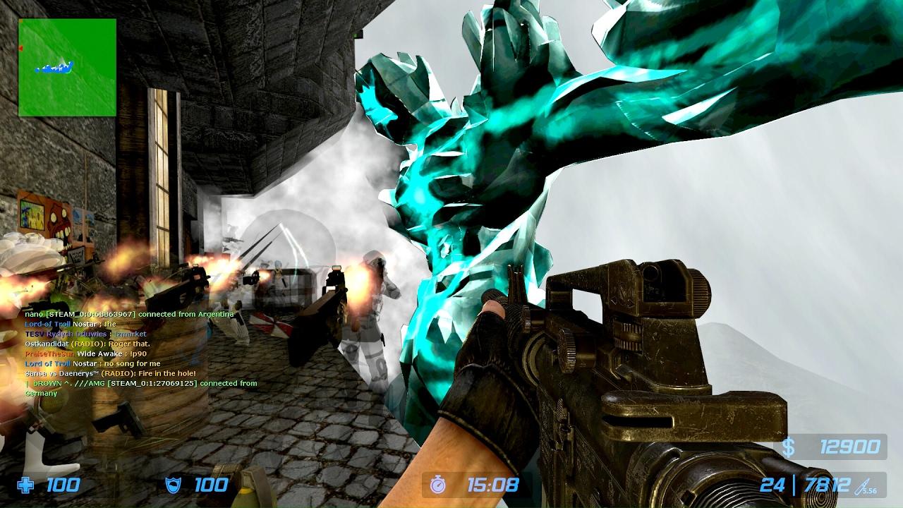Counter-Strike Source: Zombie Escape - ze_Castlevania_v1_3 (Stage 6 - The Mountain) on Unloze