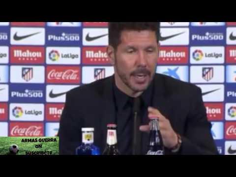 Simeone rueda de prensa tras perder el derbi 0-3 con el Real Madrid
