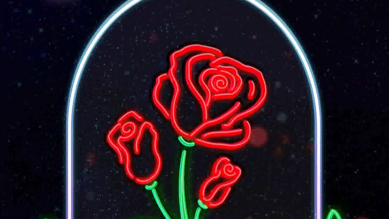Samsung Theme Live Wallpaper Neon Rose Youtube