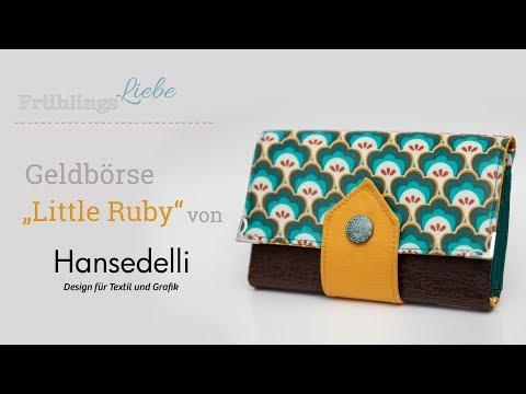"""Nähanleitung: Geldbörse """"Little Ruby"""" von Hansedelli"""