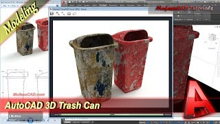 Autocad Tutorial Surface Modeling Trash Can Practice Exercise 42