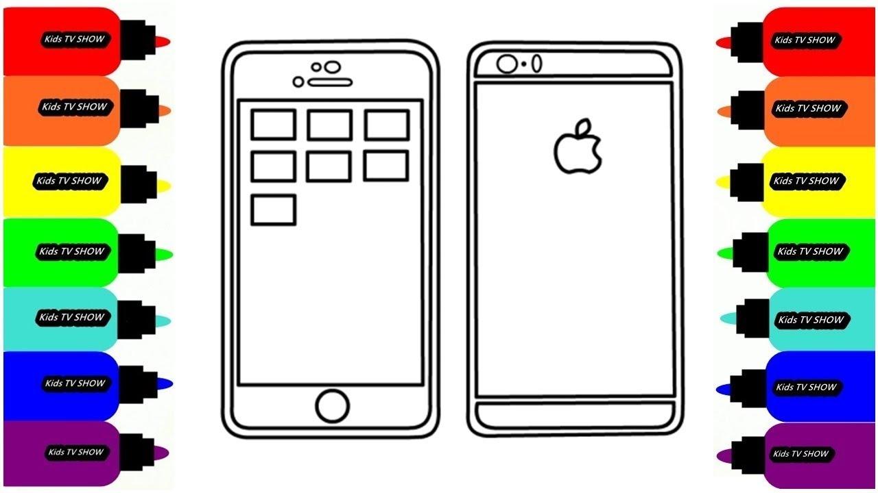 iPhone от Apple / Рисуем iPhone / Раскраска для малышей ...
