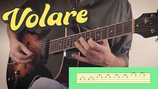 VOLARE (Nel blu, dipinto di blu) = Guitar Cover + Tabs видео