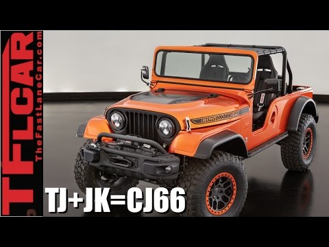 What Happens When You Mashup A Jeep Wrangler JK + TJ + CJ? Answer: Jeep CJ66 SEMA Concept