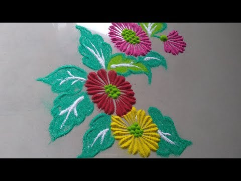 Very easy Quick Rangoli for everyday by Bucketful Creation || Daily Rangoli