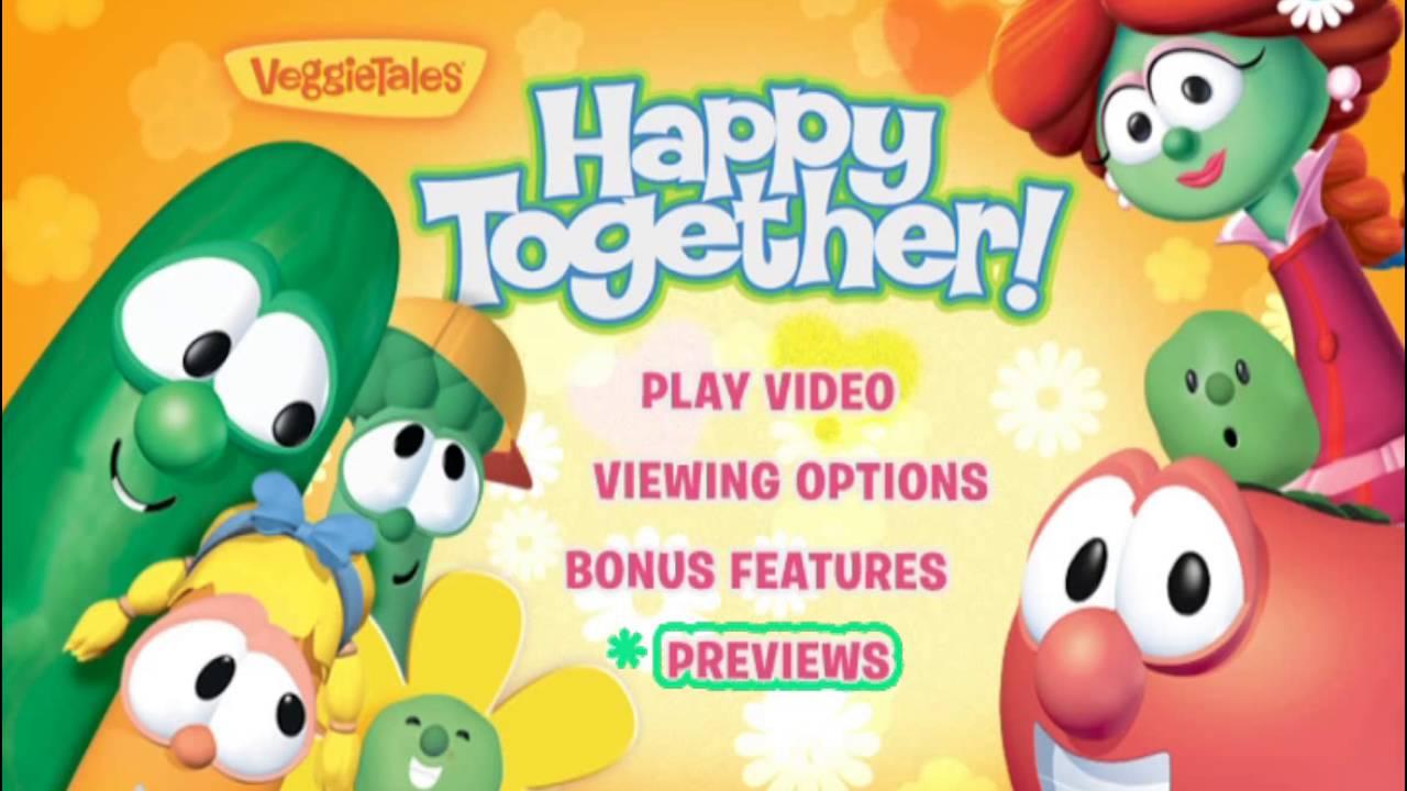 veggietales happy together dvd menu youtube