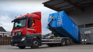 Container transport in Germany - HyvaLift, Dreckspatz and Mercedes