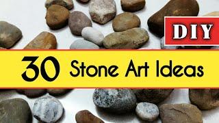 30 easy stone art ideas   DIY Stone craft ideas   DIY Rock painting craft ideas   Stone paintings