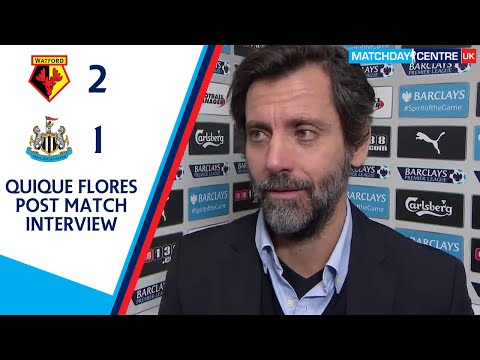 Watford 2-1 Newcastle United : Quique Flores Interview