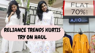 Reliance Trends Kurtis - 1000 Rs Reliance Shopping Challenge 2019 | AdityIyer