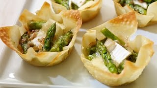 Asparagus And Brie Wonton Tartlets | All You Need Is Cheese