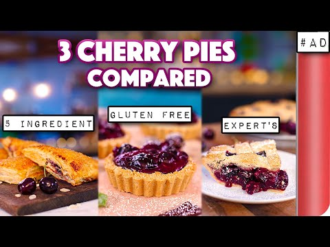 COMPARING 3 Cherry Pie Recipes 5 Ingredient / Gluten Free / Classic