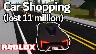 CAR SHOPPING (LOST 11 MILLION) Bugatti, McLaren, Tesla & More | Roblox Vehicle Simulator [Montage]