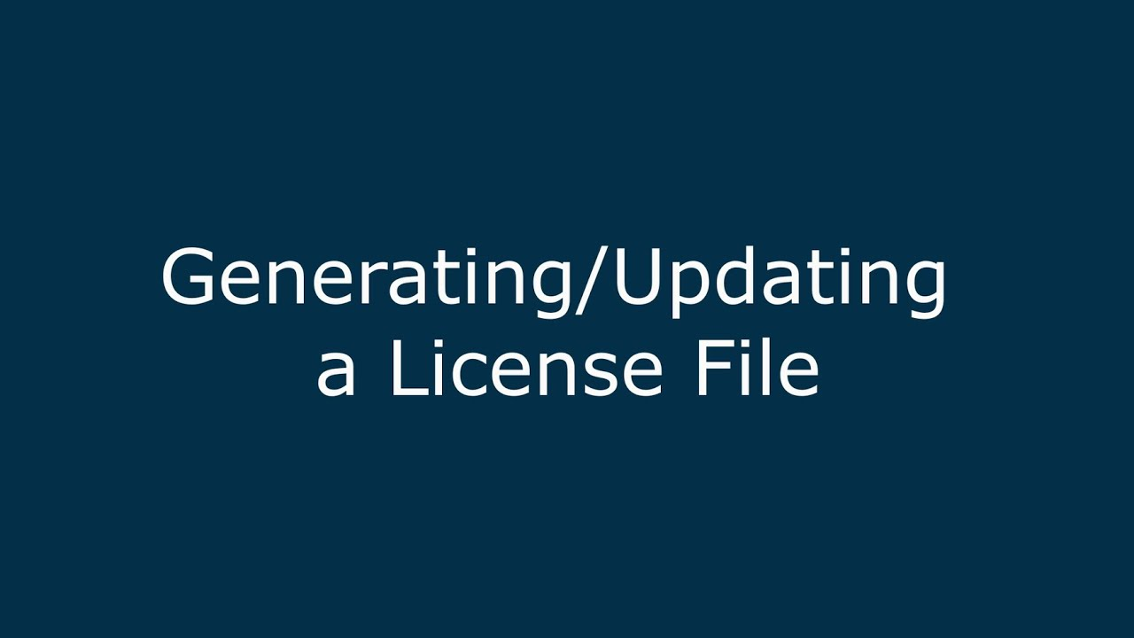 How to Generate a Network License File