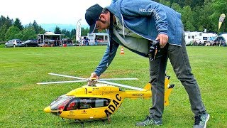 EC-145  ADAC RC SCALE MODEL ELECTRIC HELICOPTER FLIGHT DEMONSTRATION