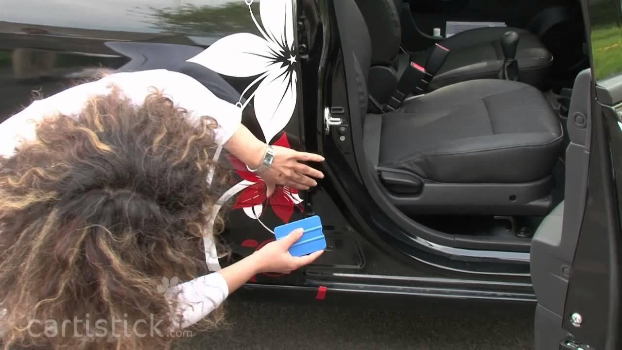 Cartistick film de pose dun sticker pour voitures sur surface complexe e mage concept