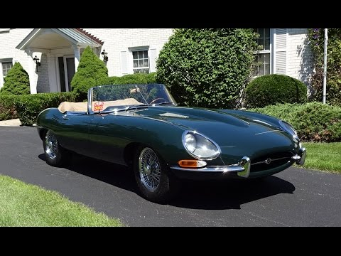 1964 Jaguar E-Type Convertible in Green with Engine Start Up & Ride My Car Story with Lou Costabile