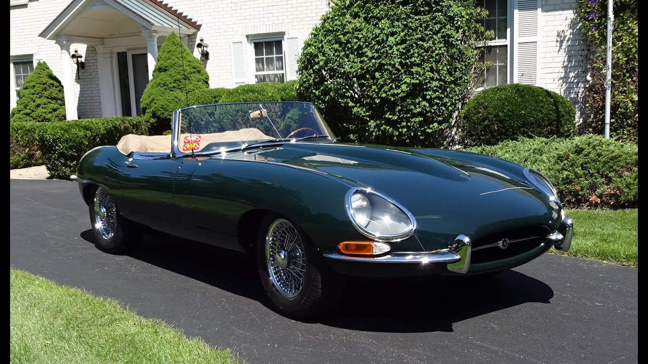 1964 jaguar e type convertible in green with engine start up ride my car story with lou. Black Bedroom Furniture Sets. Home Design Ideas