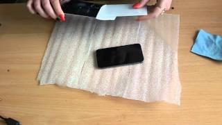 Поклейка защитного стекла на iphone 5s(, 2016-04-14T20:08:33.000Z)