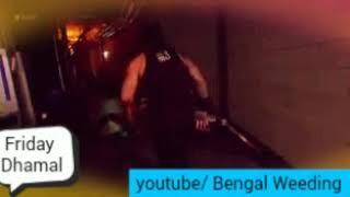 Jinder Mahal vs Roman Reigns attack face.