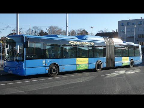 BUSES in Zagreb, Croatia // Autobusi - Zagreb ▶4K