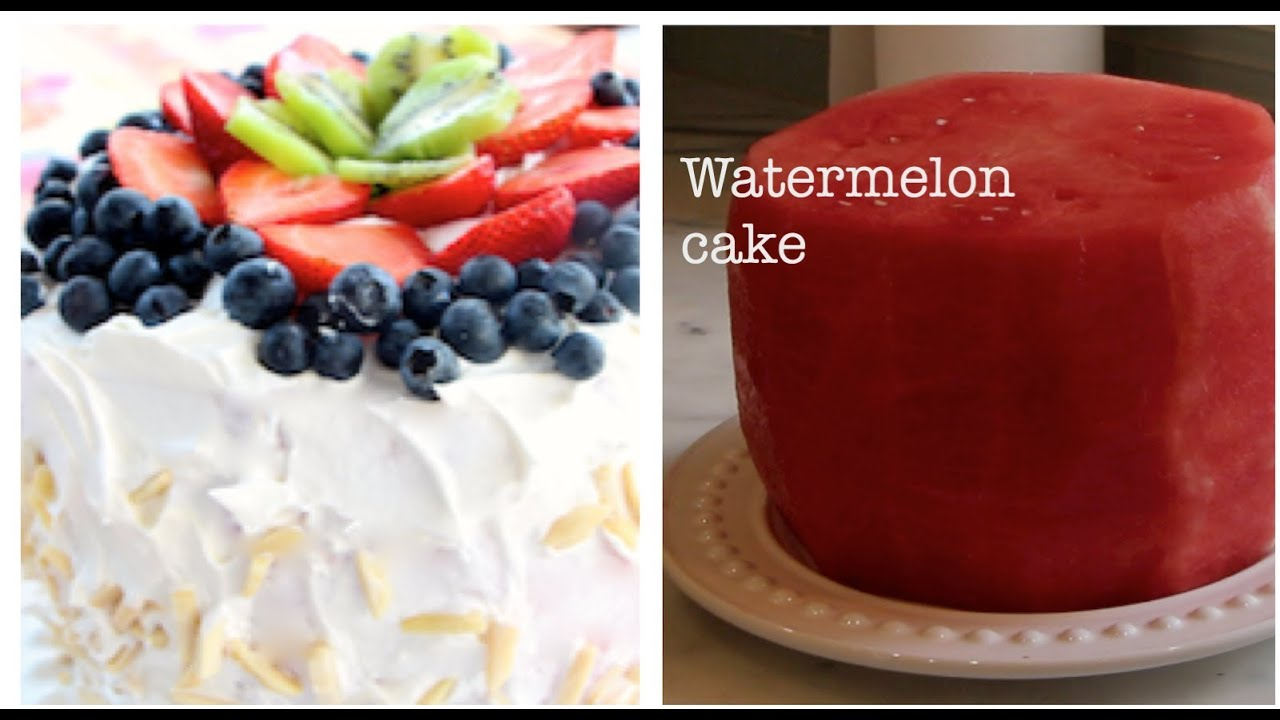 No Bake Watermelon Cake Diet Cake Healthy Dessert YouTube