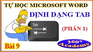 Tự học Microsoft Word - Bài 9_1: Định Dạng Tab (phần 1)