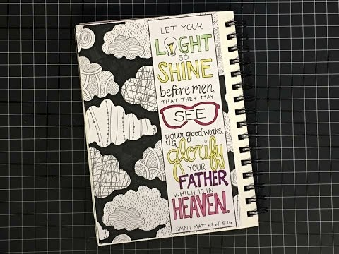 2017 heART Scripture Art Journal  Week 9 {Matthew 5 16}
