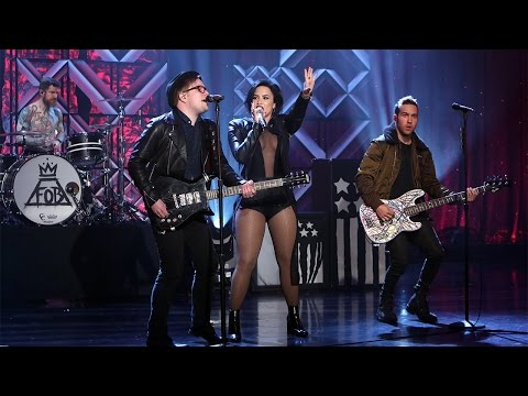 Demi Lovato & Fall Out Boy Perform 'Irresistible'