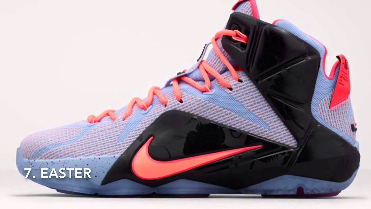 28a50591391 ... coupon code for top 10 lebron 12 colorways youtube 76095 5d08a