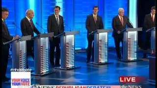Ron Paul on racist drug laws ABC NH Republican Debate 1/7/12