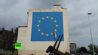 Banksy takes on #Brexit in Dover mural