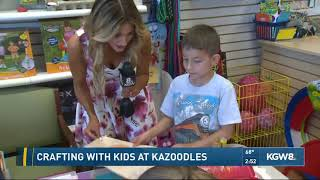 Crafting with kids at Kazoodles
