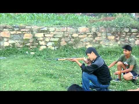 firing the hand made gun (nepal)