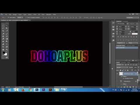 Hiệu ứng text trong photoshop
