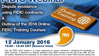 Introduction to FIDIC Contracts Courses & dispute avoidance