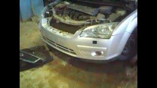 Снятие переднего бампера форд фокус (Ford focus) 2