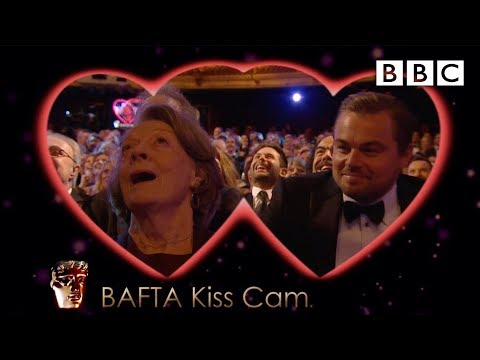 Leonardo DiCaprio and Dame Maggie Smith on Kiss Cam  The British Academy Film Awards 2016  BBC One