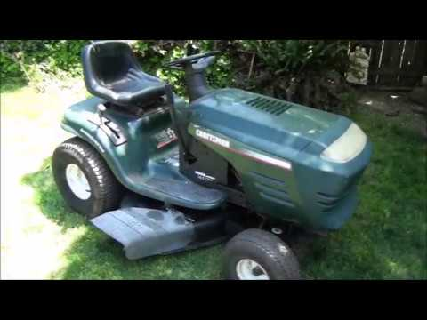 How To Fix A Common Problem On Craftsman Riding Lawnmower Front Wheel Alignment Problems