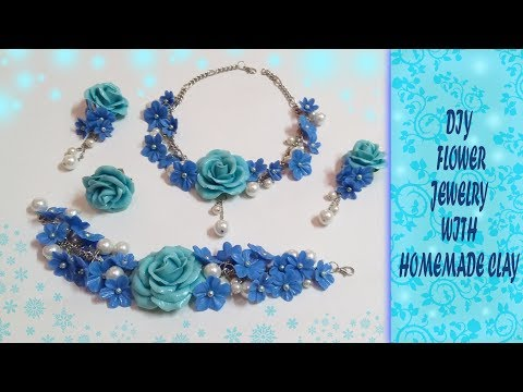DIY FLOWER JEWELRY WITH HOMEMADE CLAY