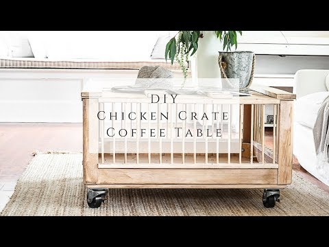 DIY Chicken Crate Coffee Table