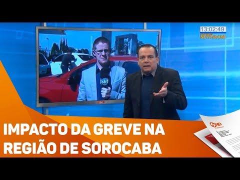 Impacto da greve na região de Sorocaba - TV SOROCABA/SBT
