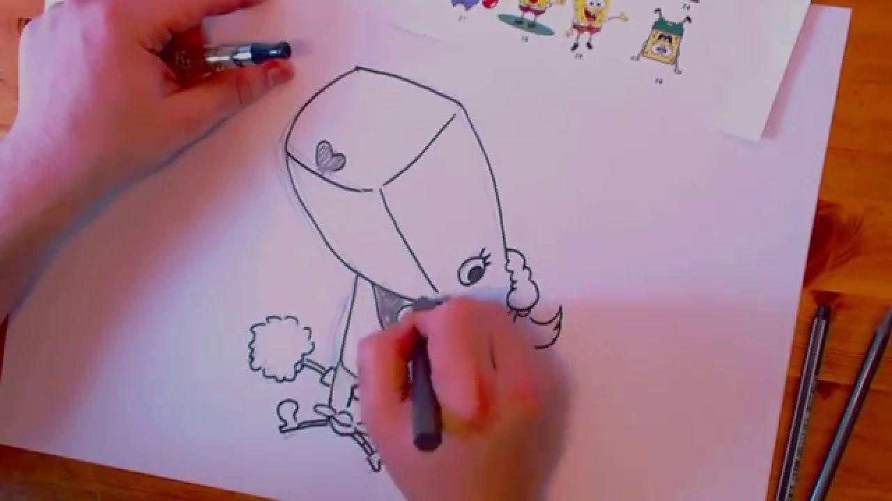How to draw pearl krabs perla krabs zeichnen lernen - Spongebob colorazione pagine perla ...