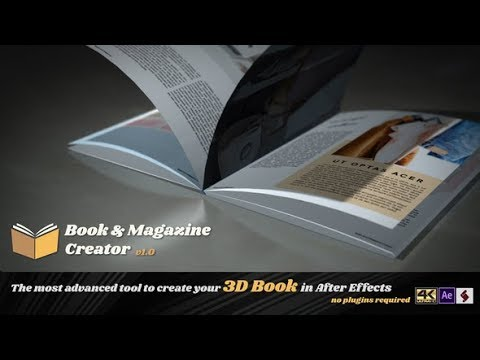 After Effects Template: Book And Magazine Creator
