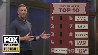 Joel Klatt releases his way too early Top Ten College Football Teams of 2020 | CFB ON FOX